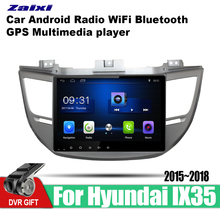ZaiXi Android Car GPS Multimedia Player For Hyundai IX35 Tucson 2015~2018 car Navigation radio Video Audio WiFi