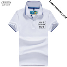 Custom LOGO Embroidery POLO Shirt Short Sleeve company logo work wear -Free Logo Setup -