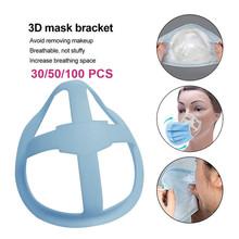 30 50 100 Pcs 3D maska silikonowa wspornik wewnętrzny wspornik maski oddychająca wielokrotnego użytku szminka Protector maska wspornik tanie tanio CN (pochodzenie) Z tworzywa sztucznego mask bracket holder bracket for mask bracket holder for mask