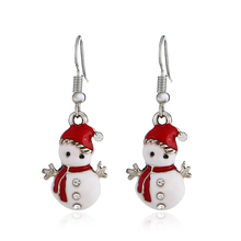 Hot Creative Christmas Ornaments Dangle Earrings For Women Stylish snowman Drop jewelry for gift