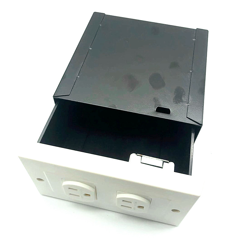 Imitation Double Plug American Standard Socket Wall Safe Security Secret Hidden Stash Box  With A Food Grade Smell Proof Bag