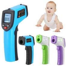 Portable LCD Screen Non-contact Infrared IR Digital Ear Body Thermometer Tester nit 122 beby 1 7 lcd screen infrared thermometer white light blue 2 x aa