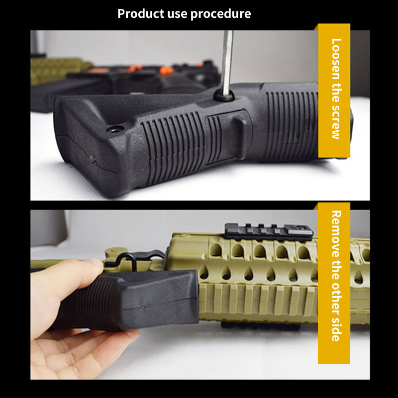 Tactical Black Nylon Front Handle Gel Ball Blasters Water Bomb Toy Grip Outdoor Shooter Sports Kids Game Tactical Pistol Handle