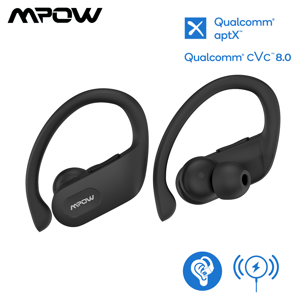 Mpow Flame Pro Wireless Bluetooth Headphones TWS Sport Earphones aptX Bass Earbuds Waterproof With 32Hrs Playtime For Running