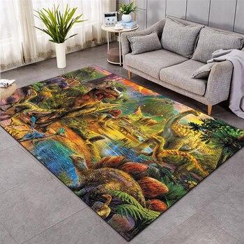 dinosaur Shaggy Anti-Skid Floor Mat 3D Carpet Non-slip rug Dining Room Living Room Soft Child Bedroom Mat Carpet Home Decor 015