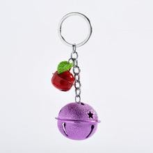 Карамельный цветной тусклый полированный металлический колокольчик-брелок Подвеска Милая Мода лак для выпечки женский подарок для украшения автомобиля