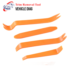 4Pcs Car Trim Removal Tools Kit Automobile Audio Door Clip Panel Trim Dash Auto Radio Removal Pry Tool Set