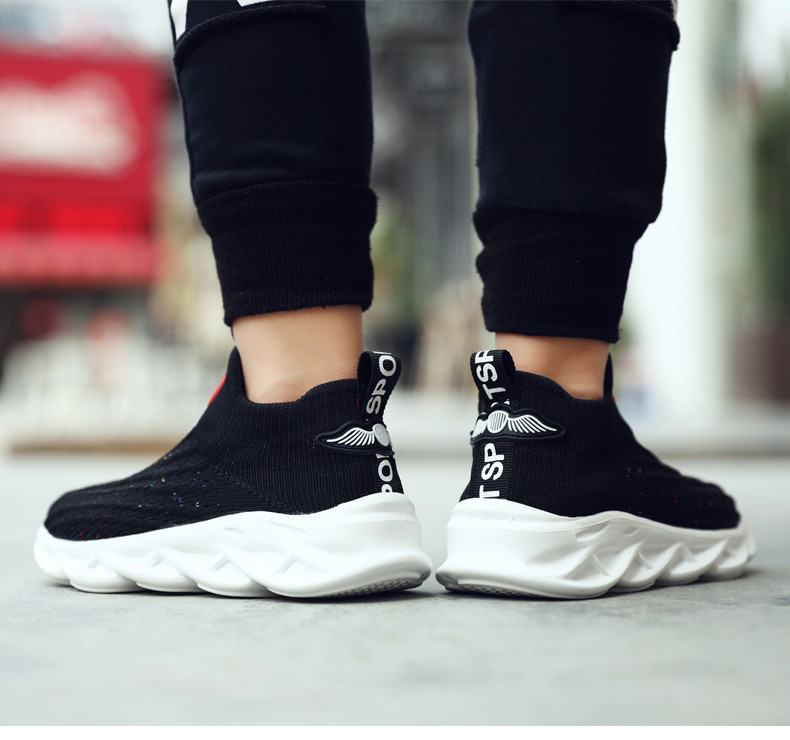 2019 Autumn boys sneakers kids shoes girls travel casual sports Socks shoes Mesh children's breathable running shoes (12)