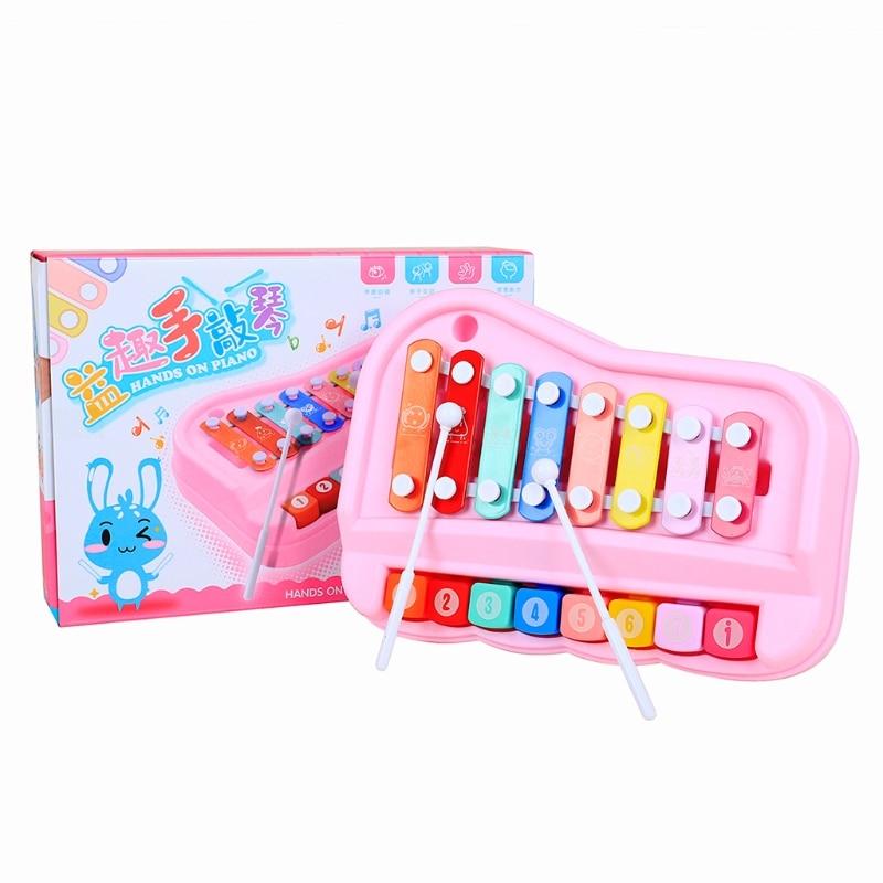 Kids Children's puzzle octave hand percussion Farm Piano Developmental Music Toy J2HD