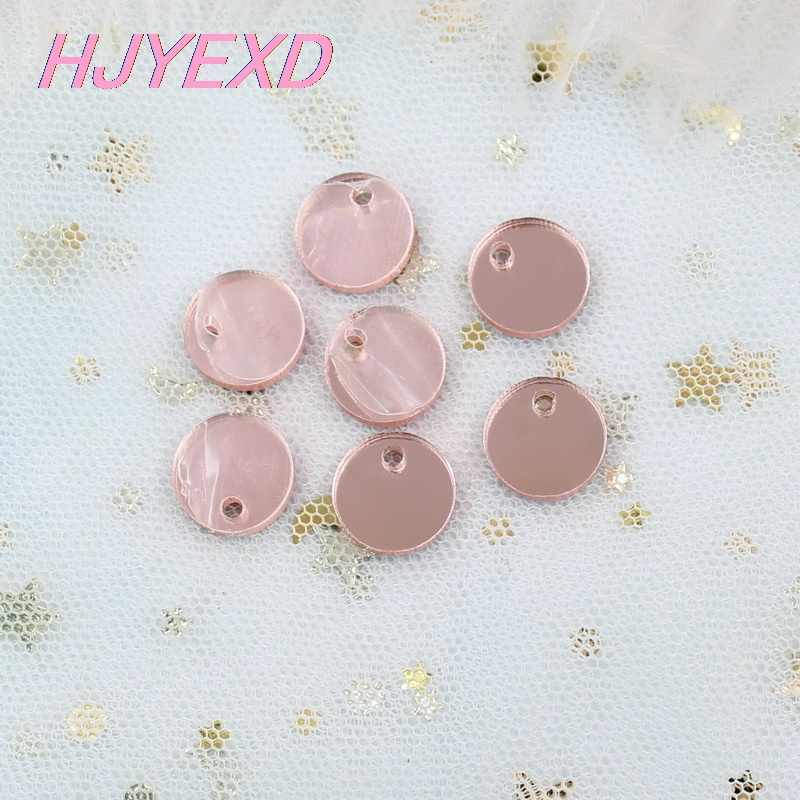 10/12/16/20mm Acrylic Circle Earrings(no Stud Back) One Hole For Disc Rose Gold Mirror Laser Cutout -AC1028