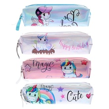 pencil case kawaii unicorn trousse scolaire cute piornik kalem kutusu cartuchera para lapices school etui box glitter