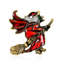 2019 New Fashion Flying Mop Witch Cute Brooch Pin for Girl Women Jewelry Corsage Accessories Wholesale
