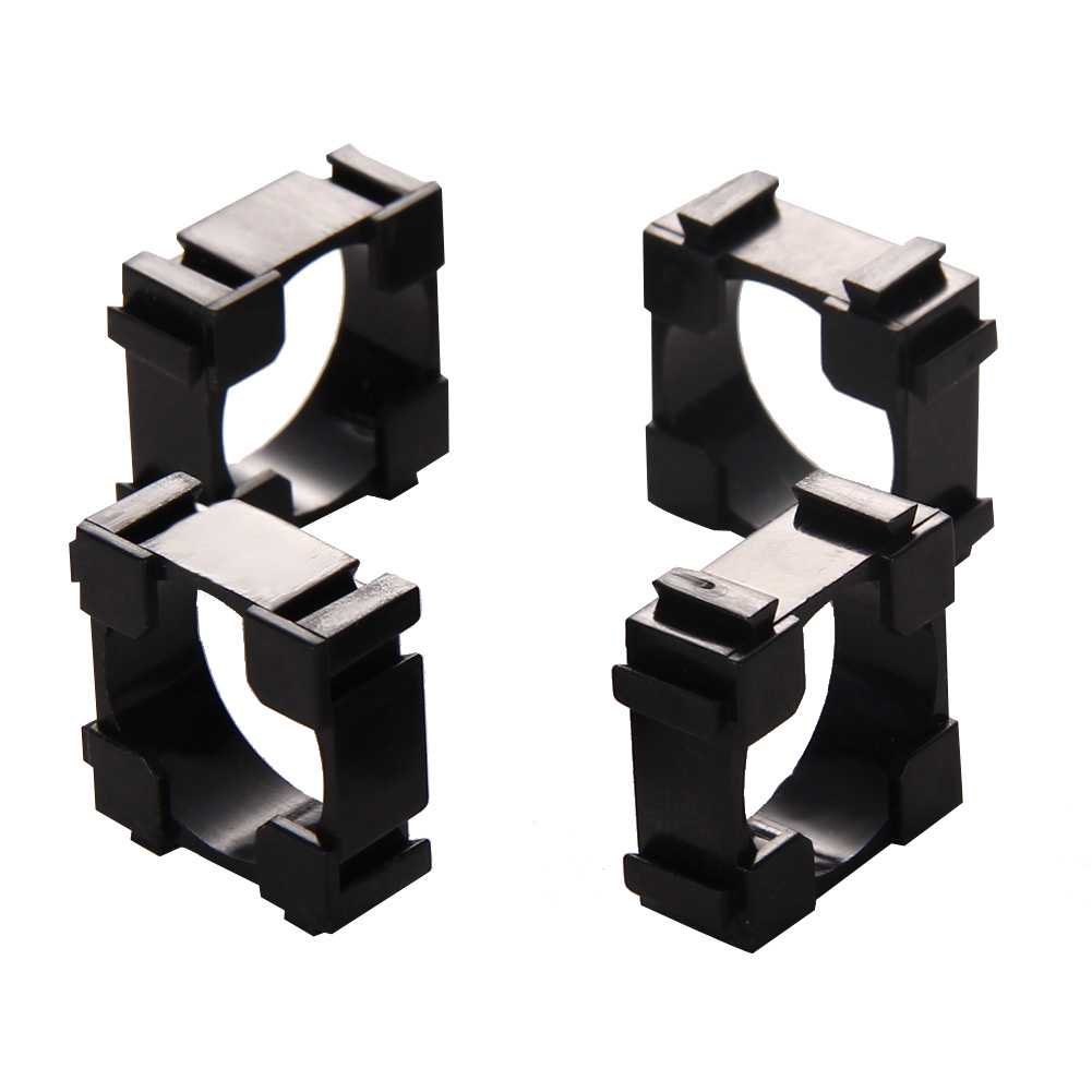 100pcs Battery Bracket 18650 Safety Anti Vibration Holder Bracket 22x22mm pc+pp+gp Meterials Lithium Batteries Support Stand