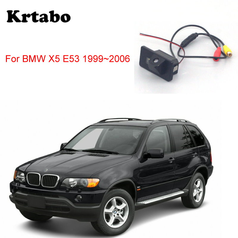 Krtabo Car Rear Camera For BMW X5 E53 1999~2006 Back Up Car Night Vision Reversing   Camera CCD HD Waterproof Camera