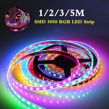 цена на 1/2/3/5M Bluetooth RGB Led Strip Light Tape Flexible SMD 5050 DC12V Waterproof led rgb Strip light Ribbon Home Decor with Remote
