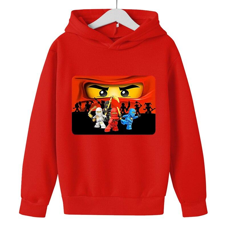 Cartoon comic Pullover kid top Autumn winter Clothes Ninjago hoodie Boy cotton Long sleeve Casual Sweatshirt Legoe Toy printing 2
