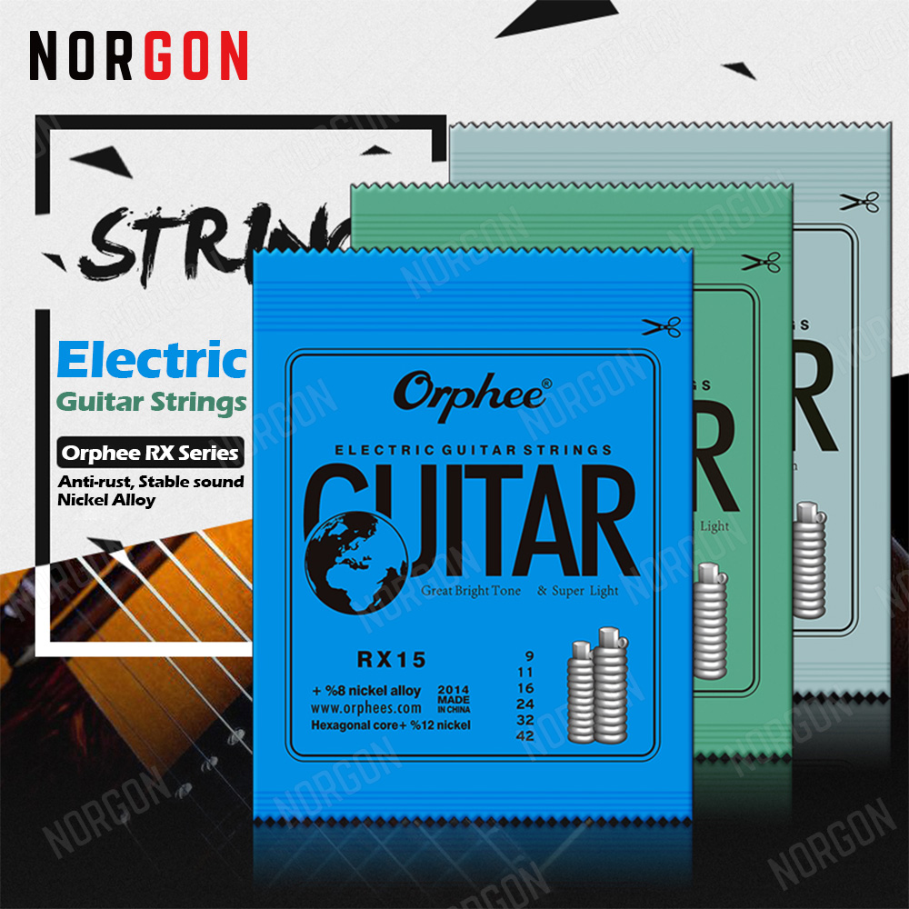 Orphee 6-String Electric Guitar Strings Nickel Alloy Hexagonal Core 009 010 011 Inch RX15 RX17 RX19 Guitar Parts And Accessories