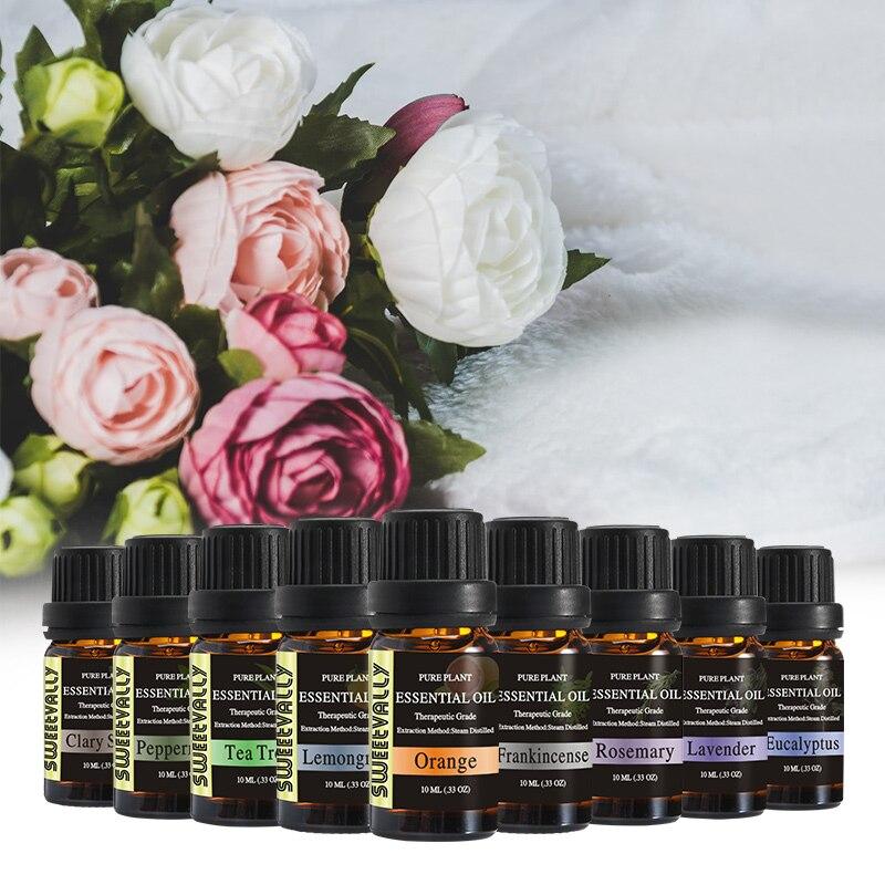 37 pièces soluble dans l'eau huile essentielle soulager le Stress pour humidificateur parfum lampe Air rafraîchissant aromathérapie huiles essentielles 10ml