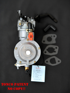 Image 1 - 170F Dual Fuel Carburetor for Gasoline Generator LPG NG Propane CONVERSION Hybrid 2.8KW GX200 +  Scarf as Gift, TONCO Brand