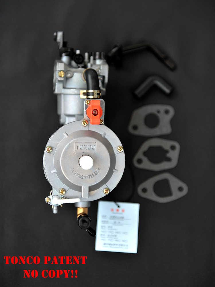 170F المزدوج الوقود المكربن ل مولد بنزين LPG NG البروبان تحويل الهجين 2.8KW GX200 وشاح كهدية ، TONCO العلامة التجارية