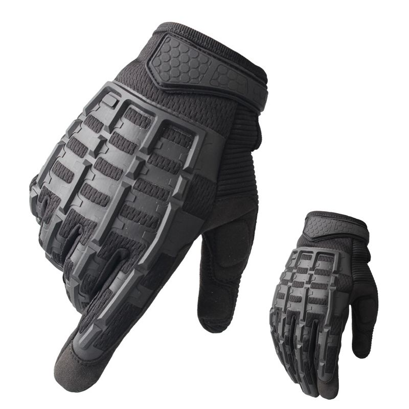 Outdoor Sports Tactical <font><b>Gloves</b></font> for Hiking Riding Cyling Men Military <font><b>Gloves</b></font> <font><b>Armor</b></font> Combat Protection Shell Full Finger <font><b>Glove</b></font> Camo image