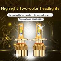C6 Zwei-Farbe H7 Led Scheinwerfer Lampen H4 LED Auto Lichter H1 H3 880 881 H11 HB3 9005 HB4 9006 9012 6000K 12V 9600LM Auto Scheinwerfer