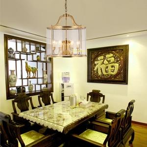 Image 4 - Американский подвесной светильник, лестница, европейский стиль, коридор, домашний сад, бронза, карнавал, подвесной светильник, птичья клетка, вилла, клуб, лампа LO7309