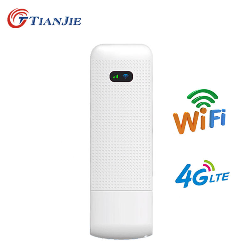 TIANJIE 4G WiFi Router Modem 4g Usb Dongle Mobile Router Portable Mini Wireless USB Modem Car Wifi Dongle With Nano SIM Slot