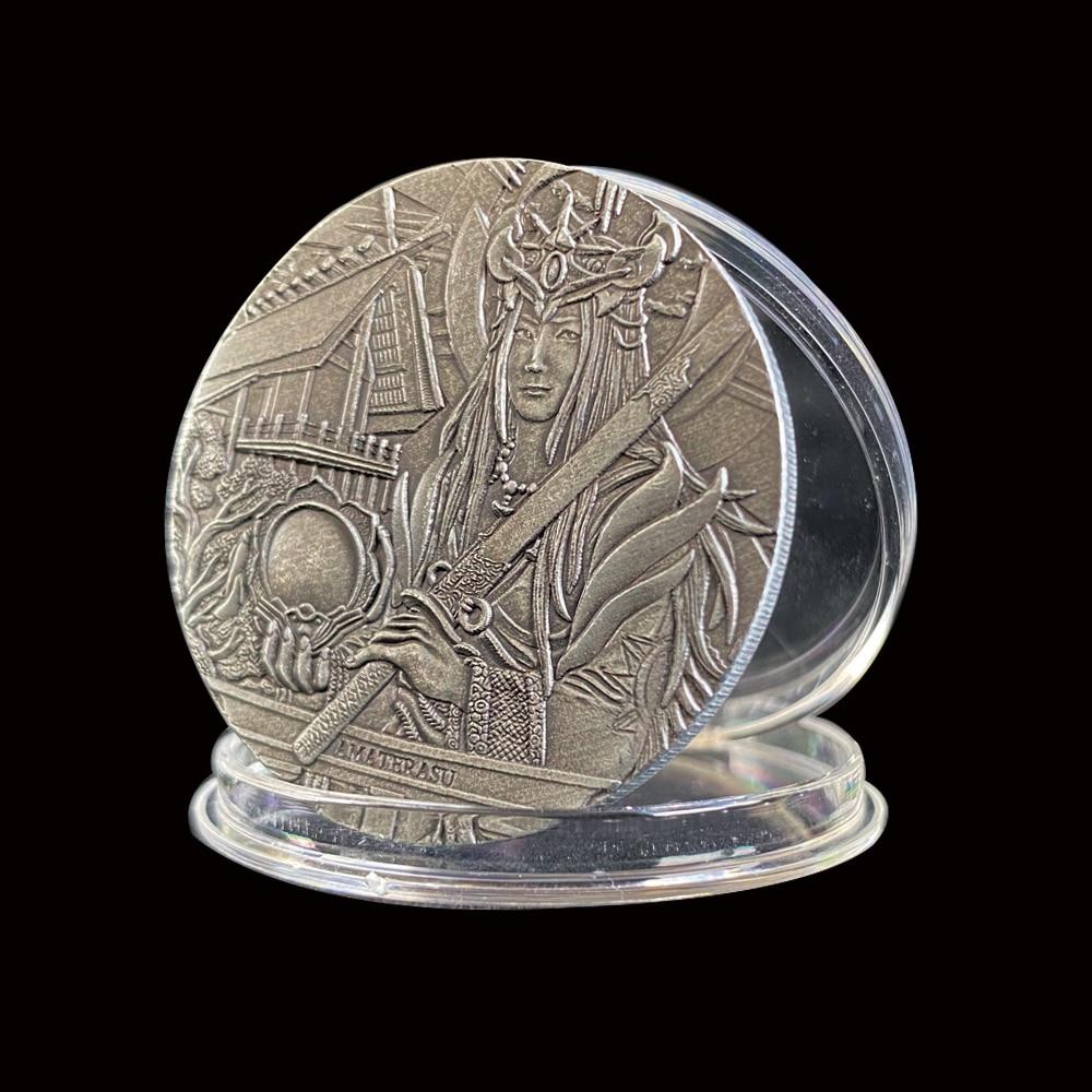 Amaterasu памятные бронзовые монеты Елизавета II коллекционные подарки без валюты