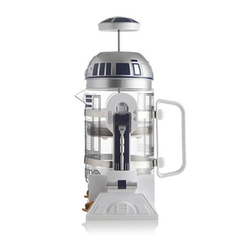 Coffee Pot 960ml Home Mini Star Wars R2 D2 Manual Coffee Maker French Pressed Coffee Pot Portable Coffee Maker Turkish Coffee Coffee Pots     - title=
