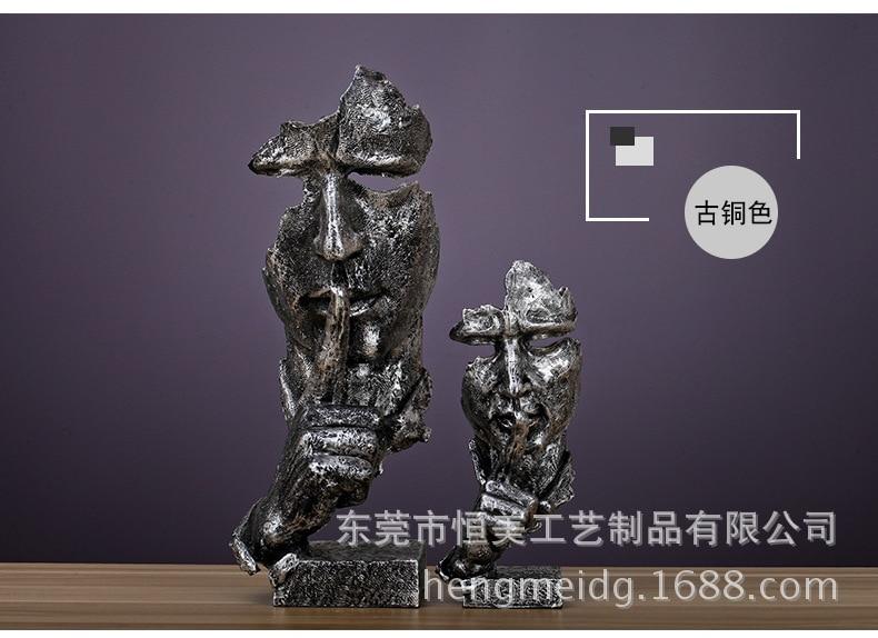 estátua decoração para casa moderna