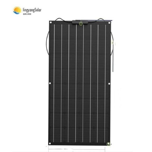 ETFE flexible Solar Panel 100W Monocrystalline Solar Cell solar panel for 12V 24 Volt system kit 1