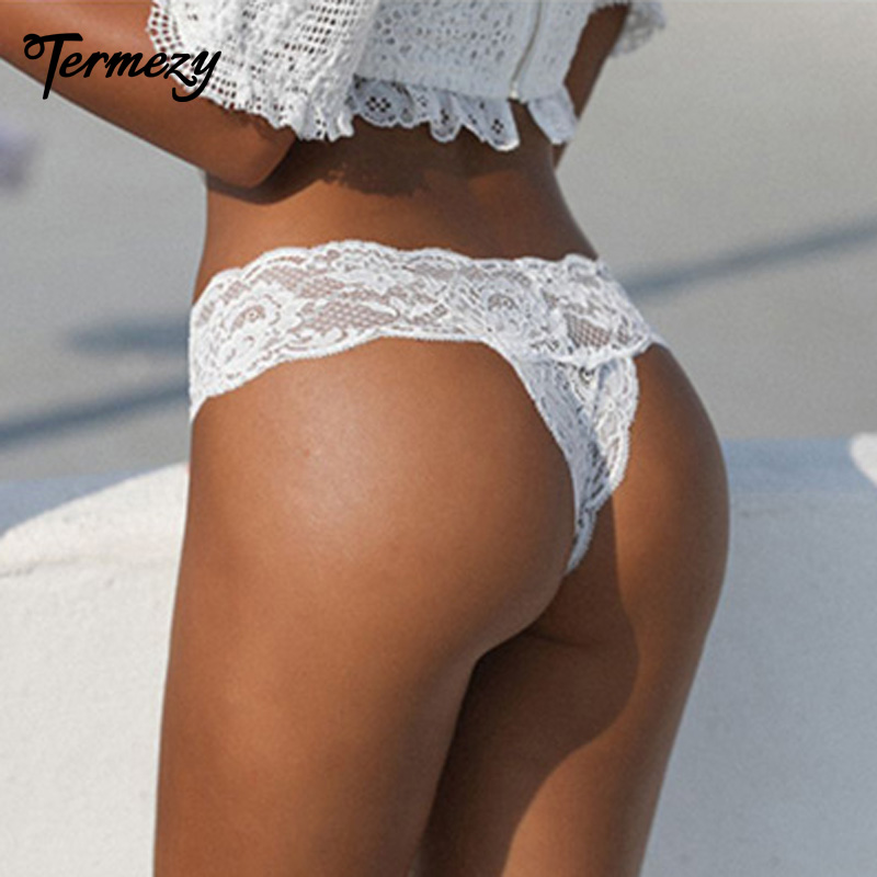 TERMEZY Amazing Hot G-String Thongs Sexy Lingerie Lace Japan Style Underwear For Women Transparent T-back Panties Soft Knickers