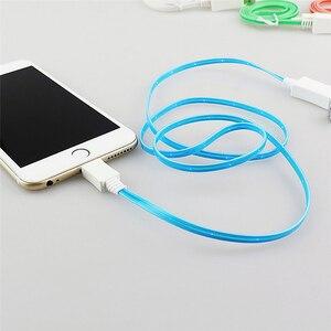 Image 5 - 1M gülümseme büyümek LED USB mikro Usb kablosu şehriye düz mikro USB şarj kablosu Samsung HTC için iPhone 5 6S 7 8 artı X Android
