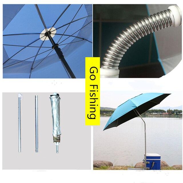 1.8-2m 360° Outdoor Beach Camping Fishing Umbrella Fold Sun Protection Anti UV Sunshade Umbrella Waterproof Awning Rain Umbrella 5