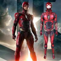 Disfraz de superhéroe Flash para adultos y niños, mono de noche de Brujas, gran calidad, 2021