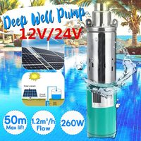 50m 12/24V Solar Submersible Water Pump High Pressure High Lift Solar DC Pump Deep Well Pump Agricultural Irrigation Garden Home