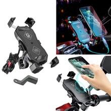 Wasserdicht 12V Motorrad QC 3,0 USB 15W Qi Drahtlose Ladegerät Halterung Halter Ständer für iphone Handy Tablet GPS