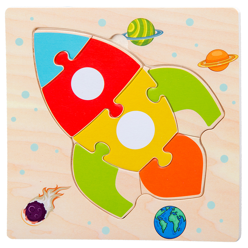 Baby Toys Wooden 3d Puzzle Tangram Shapes Learning Cartoon Animal Intelligence Jigsaw Puzzle Toys For Children Educational 16