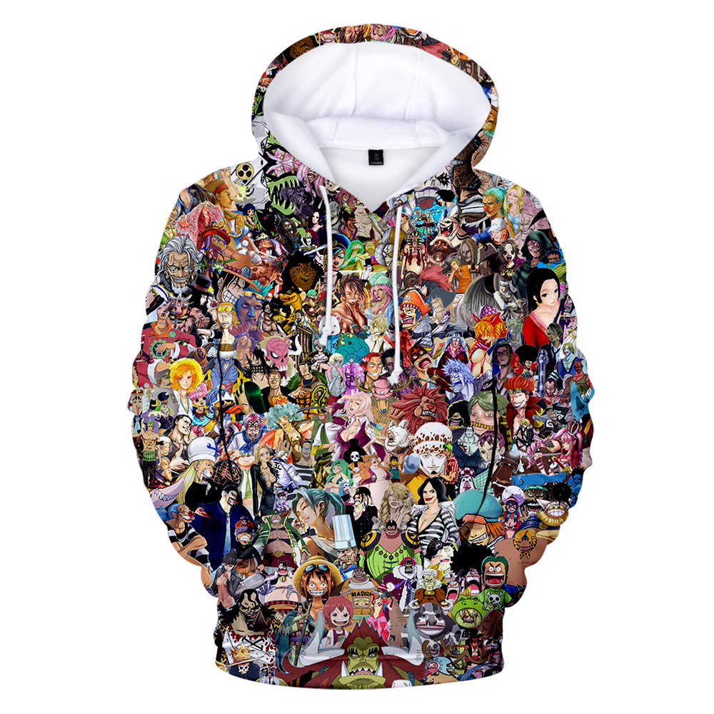 Newest Children Hoodies Print Popular Animation Character One Piece Sweatshirt Dragon Ball Hoodie Naruto Pullovers Men's Clothes
