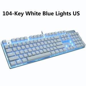 Image 5 - METOO X51 X52 Mechanical Gaming Keyboard LED Backlit 104/87 Keys Anti GhostingBlack Red Blue Switches for DOTA 2 Gamer PC Laptop
