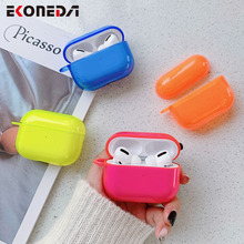 EKONEDA Luxury Fluorescence Color Case For Airpods Pro Case Silicone Soft Protective Cover For Airpod Pro Case Cute Shell