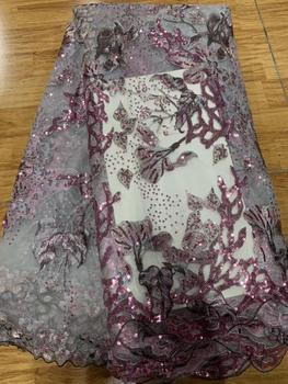 african lace fabric High Quality 2020 Latest lace 5yards Nigerian Beautiful Lace Fabric for Ladies Dress Woman Party Dress