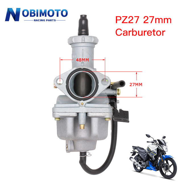 Motorcycle Carburetor Keihin PZ27 27mm Hand Cable Chock Carb for 125 150 200 250 300cc Motorbike Dirt Bike Quad ATV
