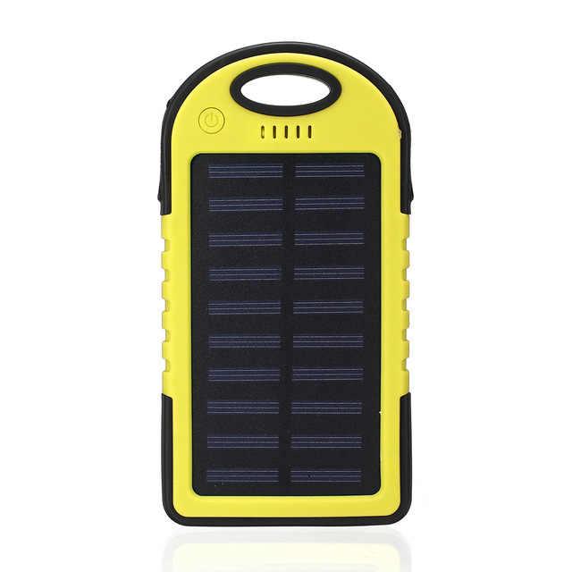 Güneş 20000mAh güç bankası taşınabilir GÜNEŞ PANELI çift USB pil şarj cihazı şarj LED pil şarj cihazı için iphone5 6 7 8 X