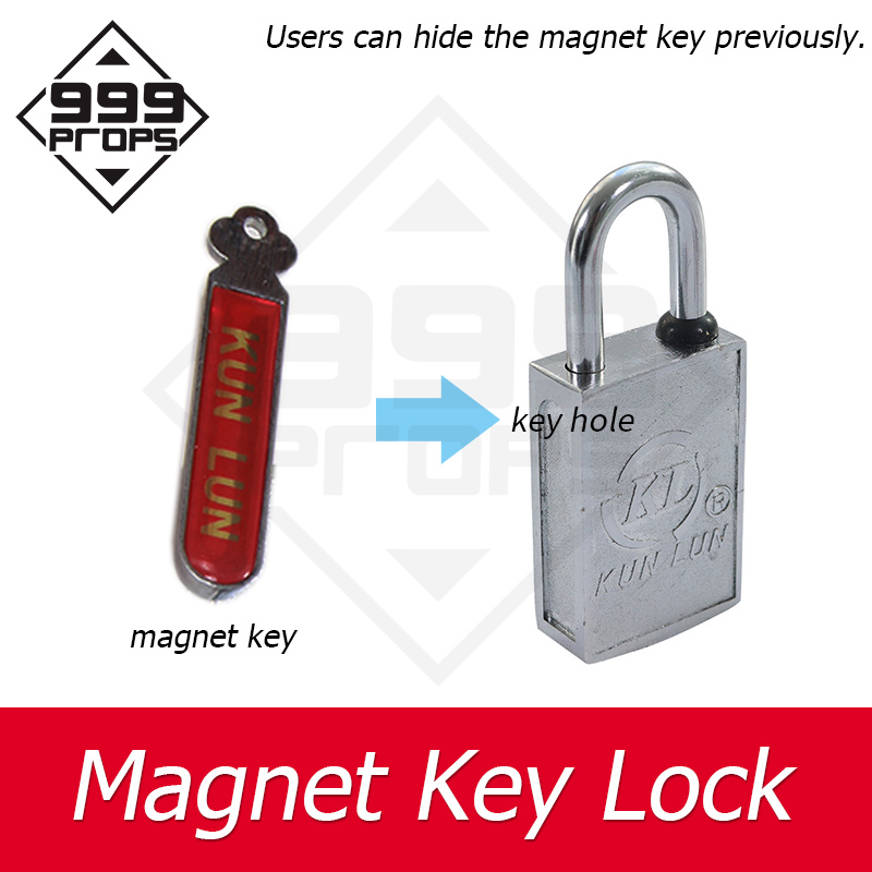 999PROPS Takagism Game Prop Magnet Key Lock Escape Room Spare Parts Installed On Door Or Box Or Other Places