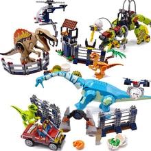 Jurassic World 2 Building Blocks Dinosaurs Figures Bricks Tyrannosaurus Rex Indominus Rex I-Rex Compatible legoinglys Kids Toys цена и фото