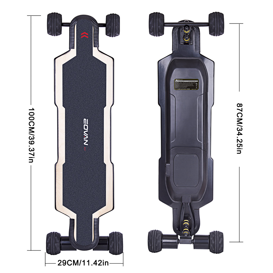 BRT-02 4-Wheel Electric Skateboard - AU/UK/EU/US Plug