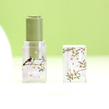 5pcs 12.1mm 3D Print DIY Makeup Tools Lipstick Empty Tube Matte Transparent Lip Balm Containers Jars Empty Shell Packaging цена 2017