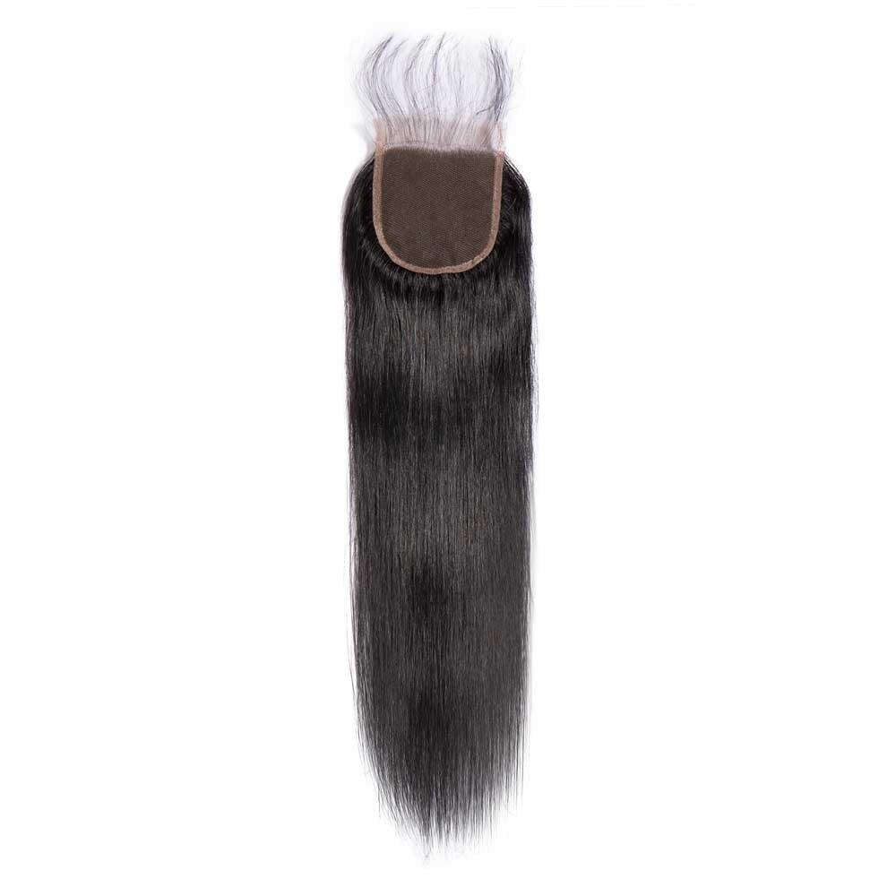 Eseewigs Women's Brazilian Straight Hair 4*4 Lace Closure Human Hair Swiss Lace Virgin Human Hair Swiss Lace Closure